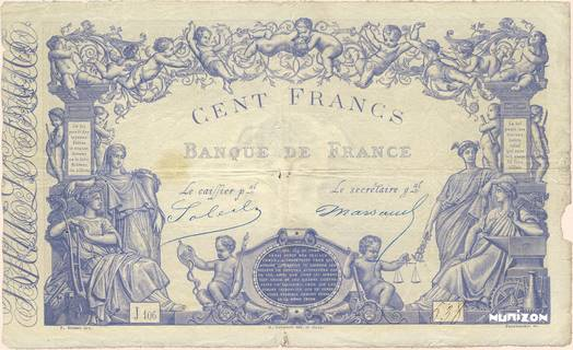 100 francs Type 1862 Bleu Pick##52a