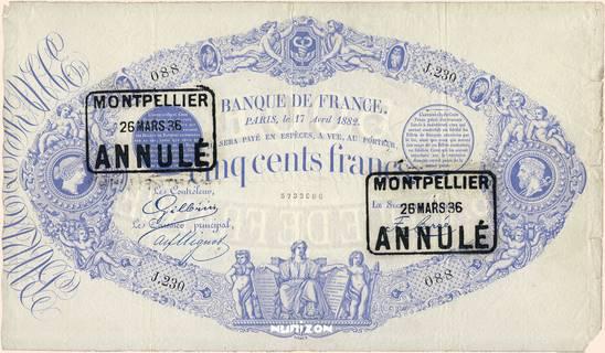 500 francs Type 1863 Bleu Pick##53