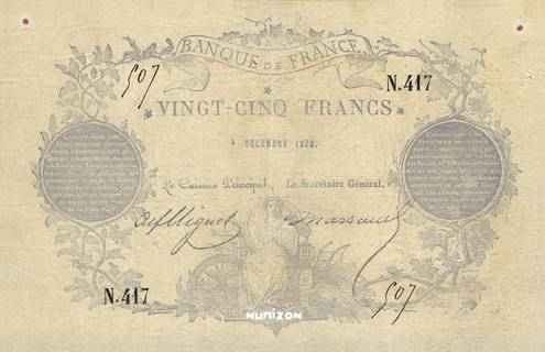25 francs Type 1870 Pick##56