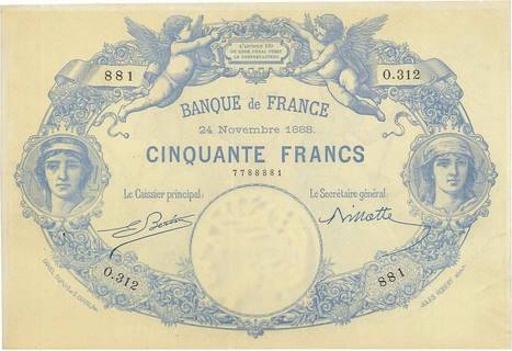 50 francs Type 1884 Indices noirs Pick##62