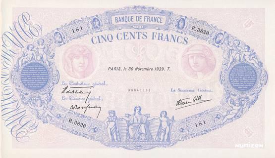 500 francs Type 1888 Bleu et rose Pick##66/#88