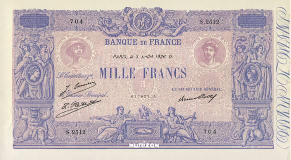 1000 francs Type 1889 Bleu et rose Pick##67