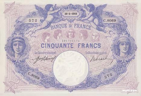 50 francs Type 1889 Bleu et rose Pick##64
