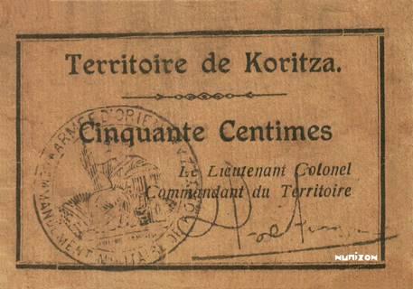 50 centimes Korçë Type 1920 Pick##153
