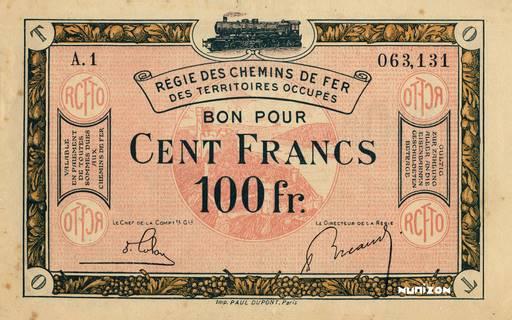 100 francs Type 1923 Pick##R10