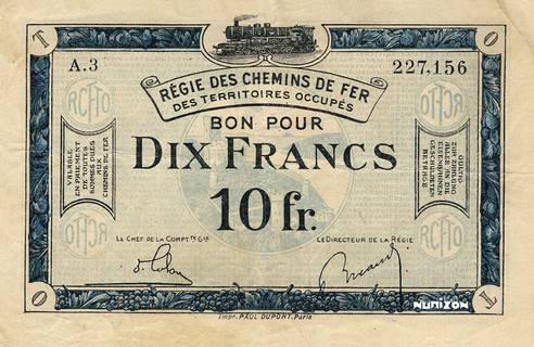10 francs RCFTO Type 1923 Pick##R7