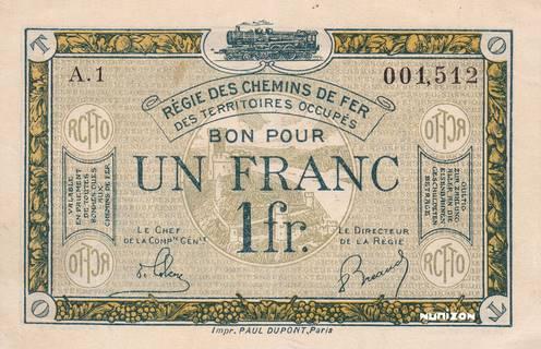 1 franc RCFTO Type 1923 Pick##R5