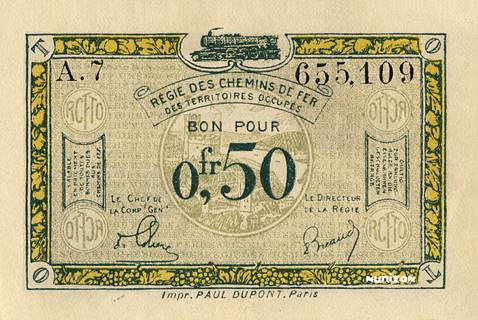 50 centimes RCFTO Type 1923 Pick##R4