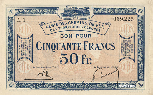 50 francs RCFTO Type 1923 Pick##R9