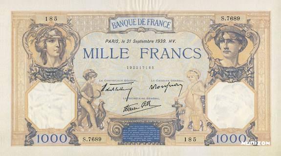 1000 francs Type 1927 Cérès et Mercure Pick##79/#90