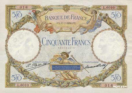 50 francs Type 1927 Luc-Olivier Merson Pick##77/#80