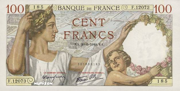 100 francs Type 1939 Sully Pick##94