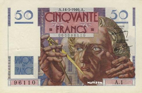 50 francs Type 1946 Le Verrier Pick##127