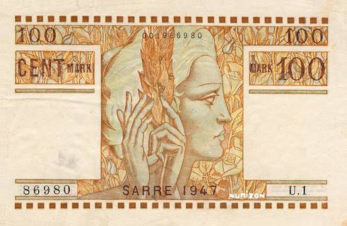 100 Mark Sarre Type 1947 Pick##8