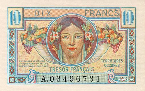 10 francs Trésor Français Type 1947 Pick##M7