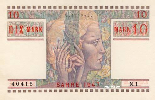 10 Mark Sarre Type 1947 Pick##6