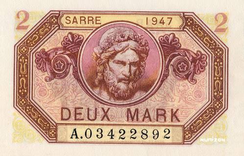2 Mark Sarre Type 1947 Pick##4