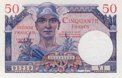 50 francs Trésor Francais Type 1947 Pick##M8
