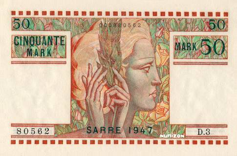 50 Mark Sarre Type 1947 Pick##7