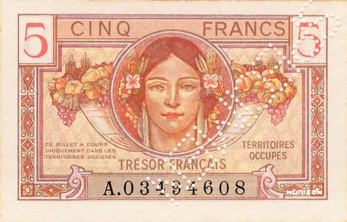 5 francs Trésor Francais Type 1947 Pick##M6