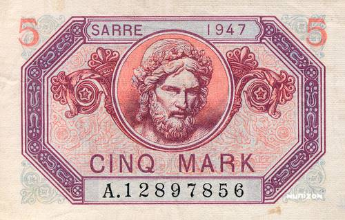 5 Mark Sarre Type 1947 Pick##5