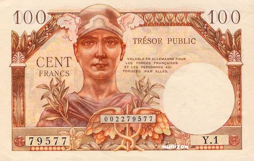 100 francs Trésor Public Type 1955 Pick##M11