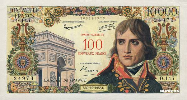 100 NF/10000 francs Type 1955 Pick##140
