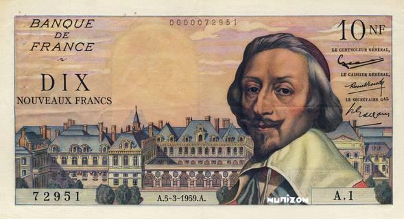 10 nouveaux francs Type 1959 Richelieu Pick##142