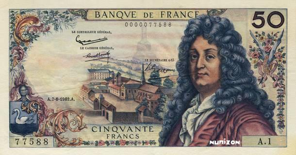 50 francs Type 1962 Racine Pick##148