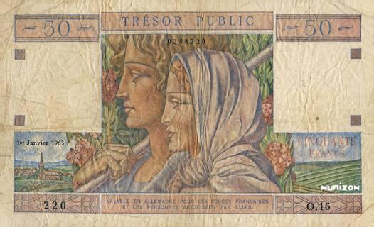 50 francs Trésor Public Type 1963 Pick##M15A