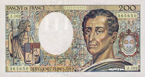 200 francs Type 1981 Montesquieu Pick##155