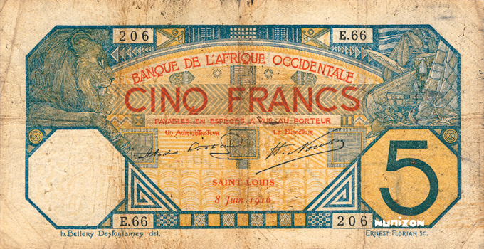 5 francs Saint-Louis Type 1904 Pick##5F