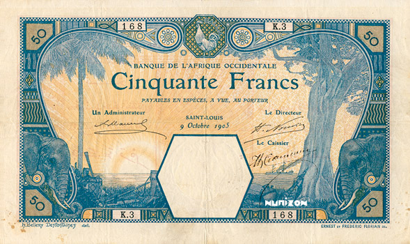 50 francs Saint-Louis Type 1905 Pick##9F