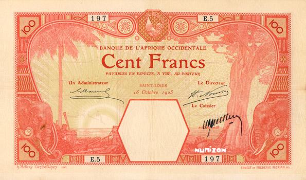 100 francs Saint-Louis Type 1905 Pick##11F