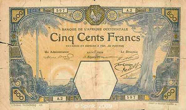 500 francs Saint-Louis Type 1912 Pick##13F