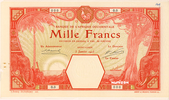 1000 francs Saint-Louis Type 1902 Pick##14F