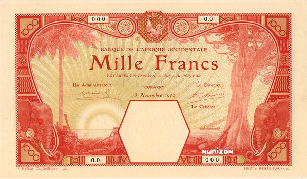 1000 francs Conakry Type 1924 Pick##15A