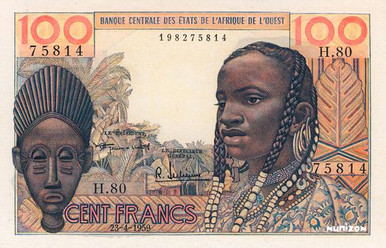 100 francs Type 1959 Pick##2