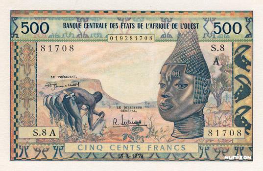 500 francs Type 1959 Pick##3
