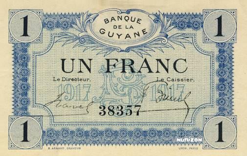 1 franc Type 1917  Pick##5