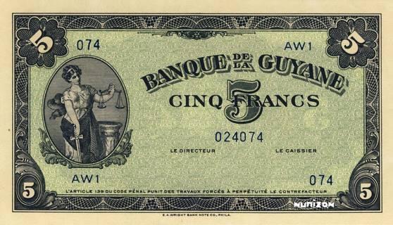 5 francs Type 1942  (US) Pick##12