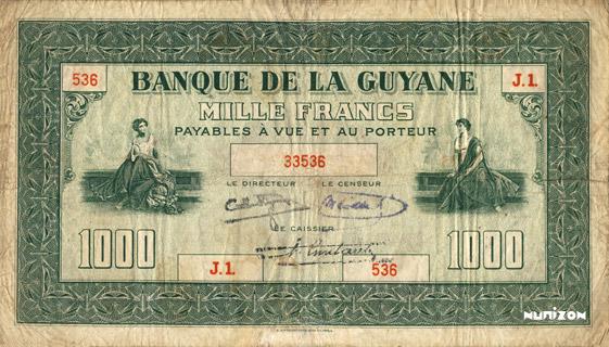 1000 francs Type 1942  (US) Pick##15