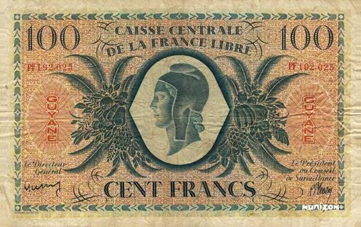 100 francs France libre Type 1943  Pick##16