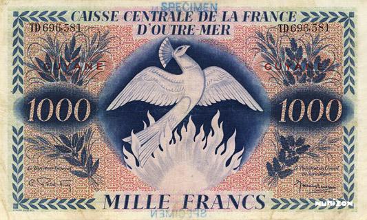 1000 francs Type 1943  (GB) Pick##18
