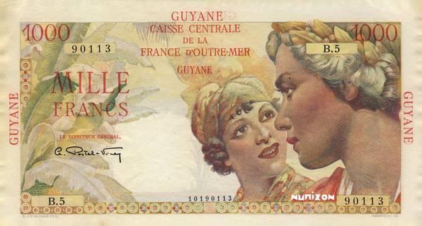 1000 francs Union française Type 1946  Pick##25