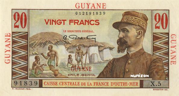 20 francs Émile Gentil Type 1946  Pick##21