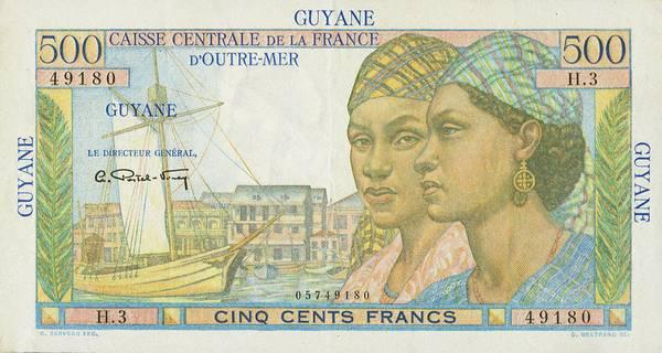 500 francs Pointe à Pitre Type 1946 Pick##24