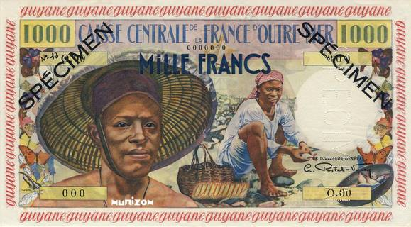 1000 francs Pêcheur Type 1955  Pick##27