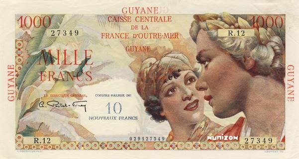 10 NF/1000 francs Union française Type 1946  Pick##32