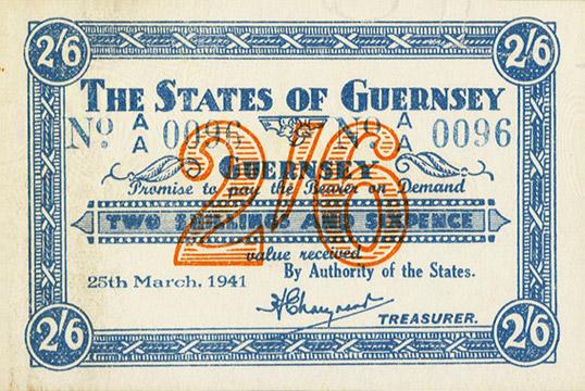 2 shillings 6 pence Type 1941 Pick##18